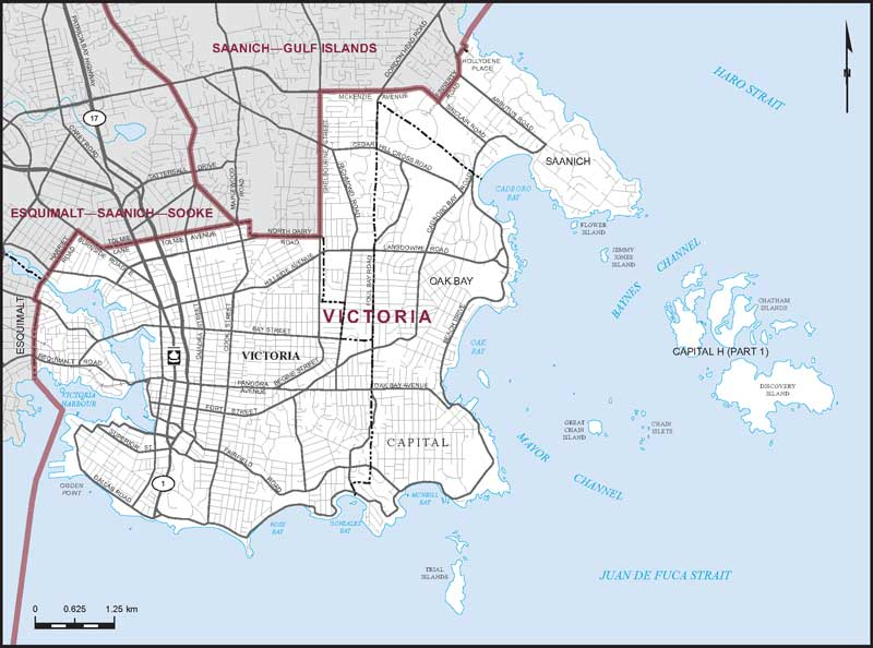 Graphic: Map of  Victoria  electoral district