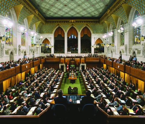 Photograph of Canada's House of Commons.