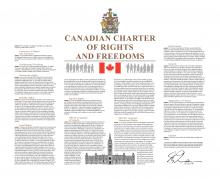 Image of the Canadian Charter of Rights and Freedoms.